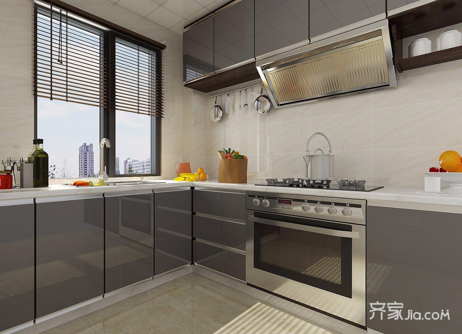 130平北欧风格四居厨房装修效果图