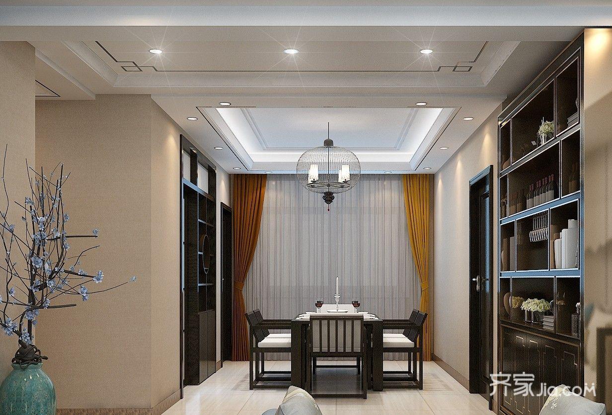 135平新中式三居餐厅装修效果图