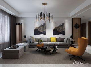 125平现代简约风格三居设计图