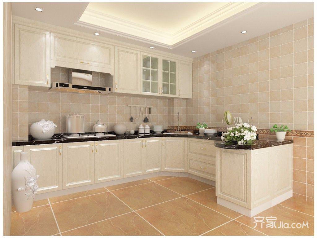 欧式风格两居室厨房装修效果图
