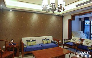 130平中式风格四居装修设计图