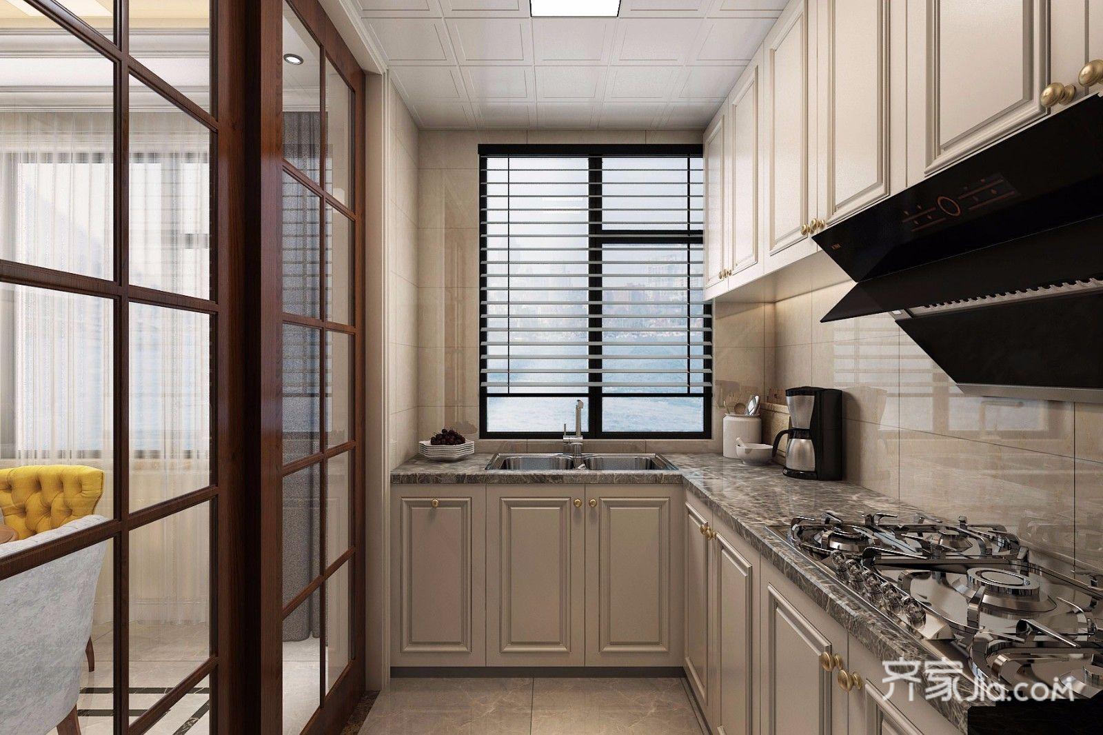 125平现代简约风格三居厨房设计图