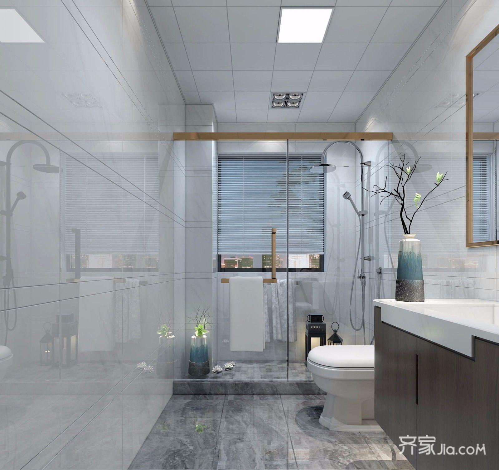 70平米简约二居室卫生间装修效果图