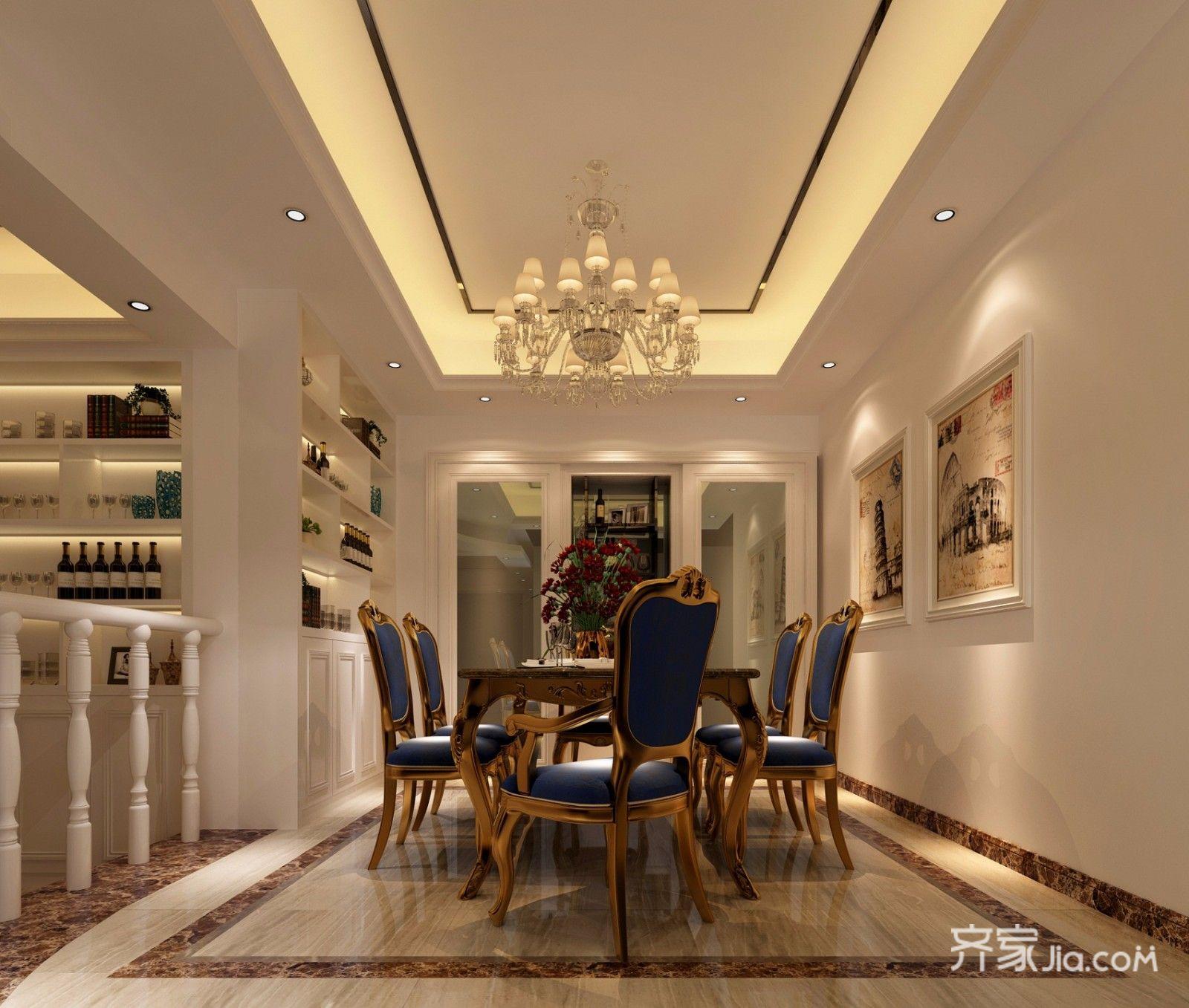 178平欧式风格三居餐厅装修效果图