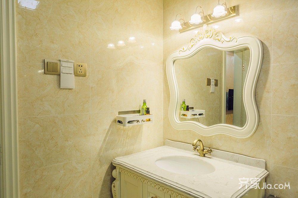 145平欧式风格四居装修洗手台设计图