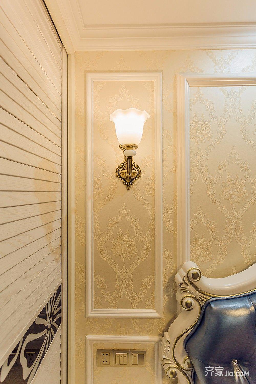 145平欧式风格四居装修壁灯效果图