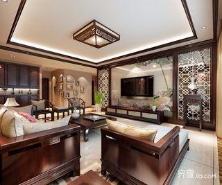 140㎡中式风格三居装修效果图