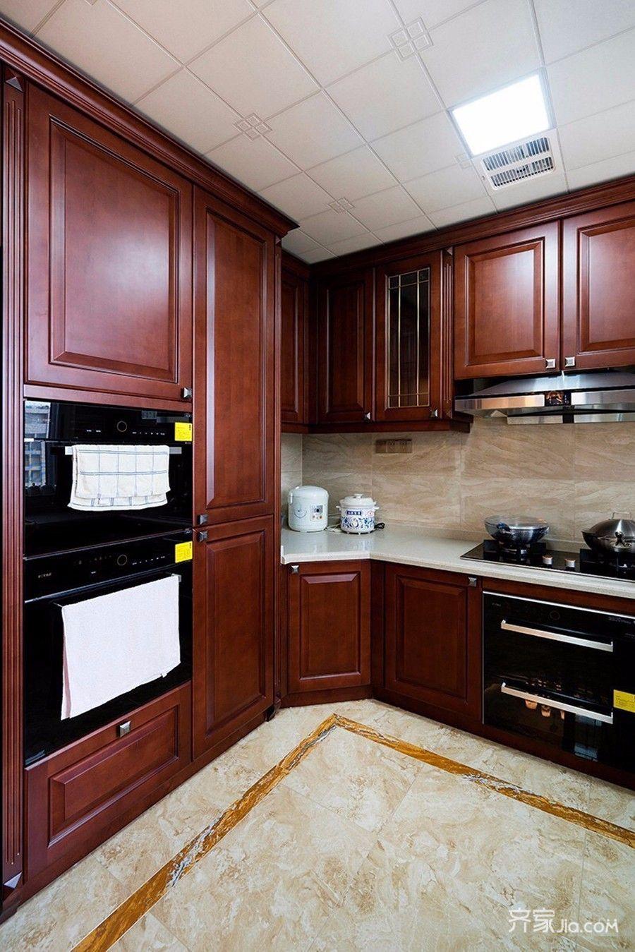 140㎡中式风格三居厨房装修设计图