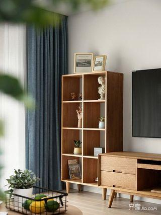 130平北欧风三居装修展示柜设计图
