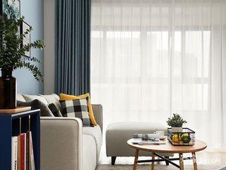 130平北欧风三居装修窗帘搭配图