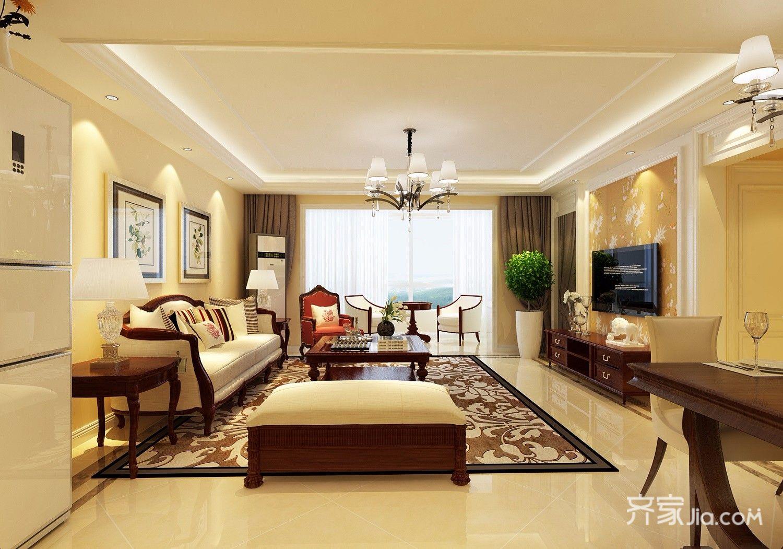 新古典风格四居客厅装修效果图