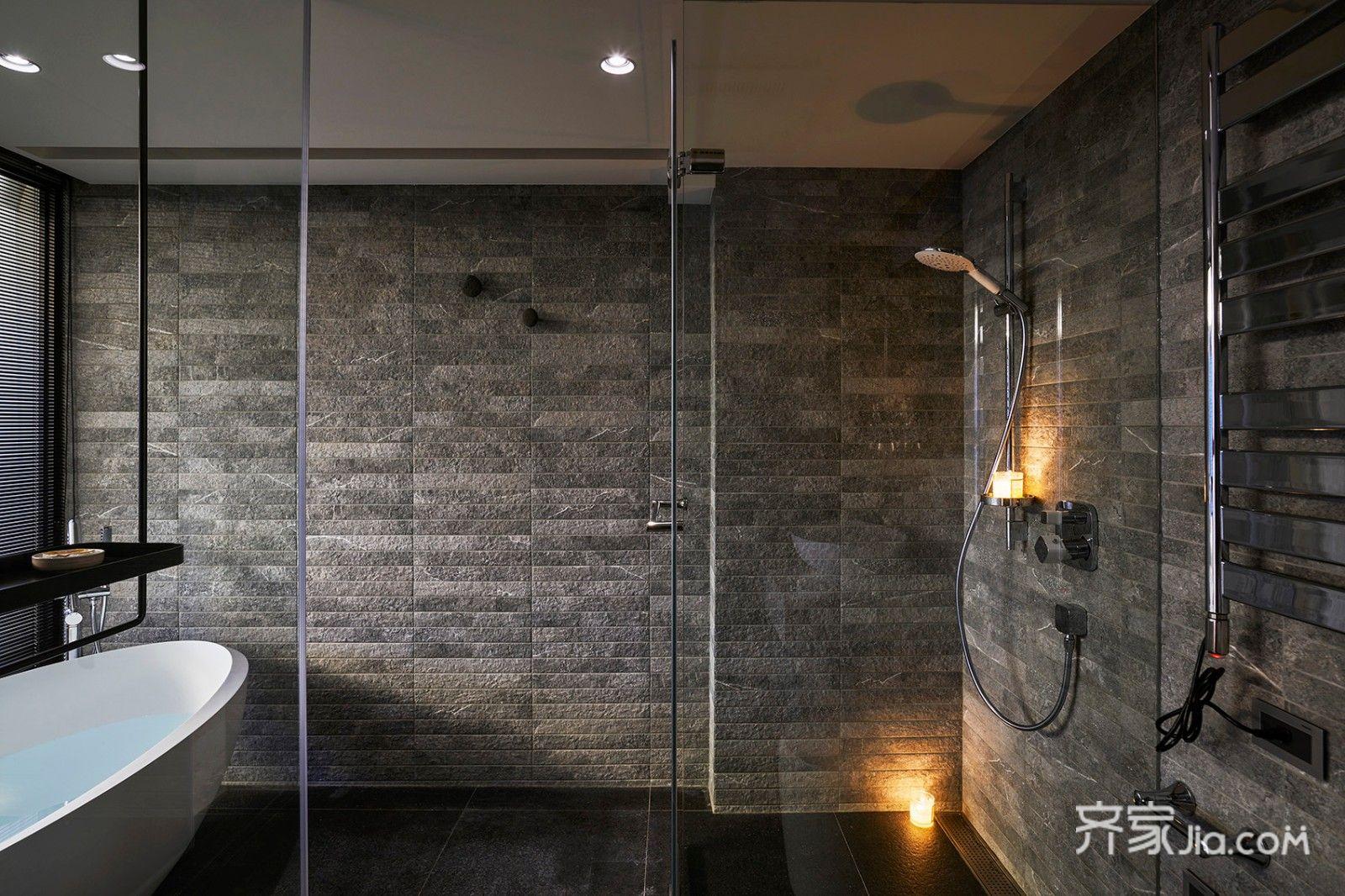 150平现代混搭装修卫生间设计效果图