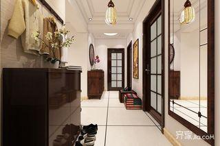 120㎡中式风格两居玄关装修效果图
