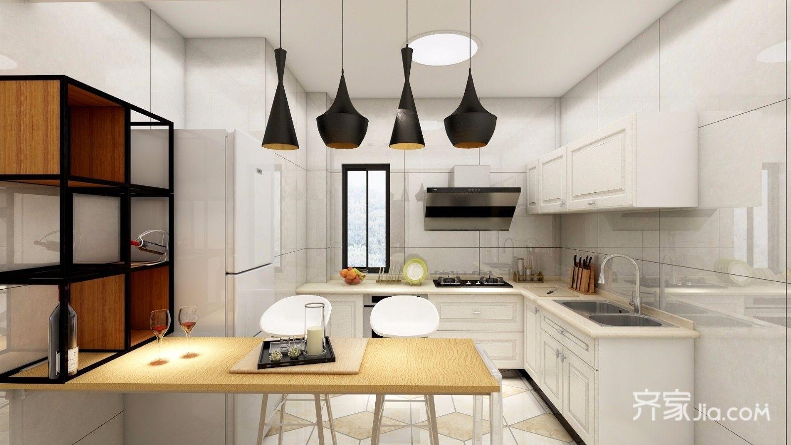 90㎡混搭风格二居厨房装修效果图