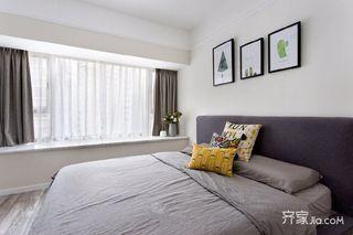 120㎡北欧风三居卧室装修搭配图