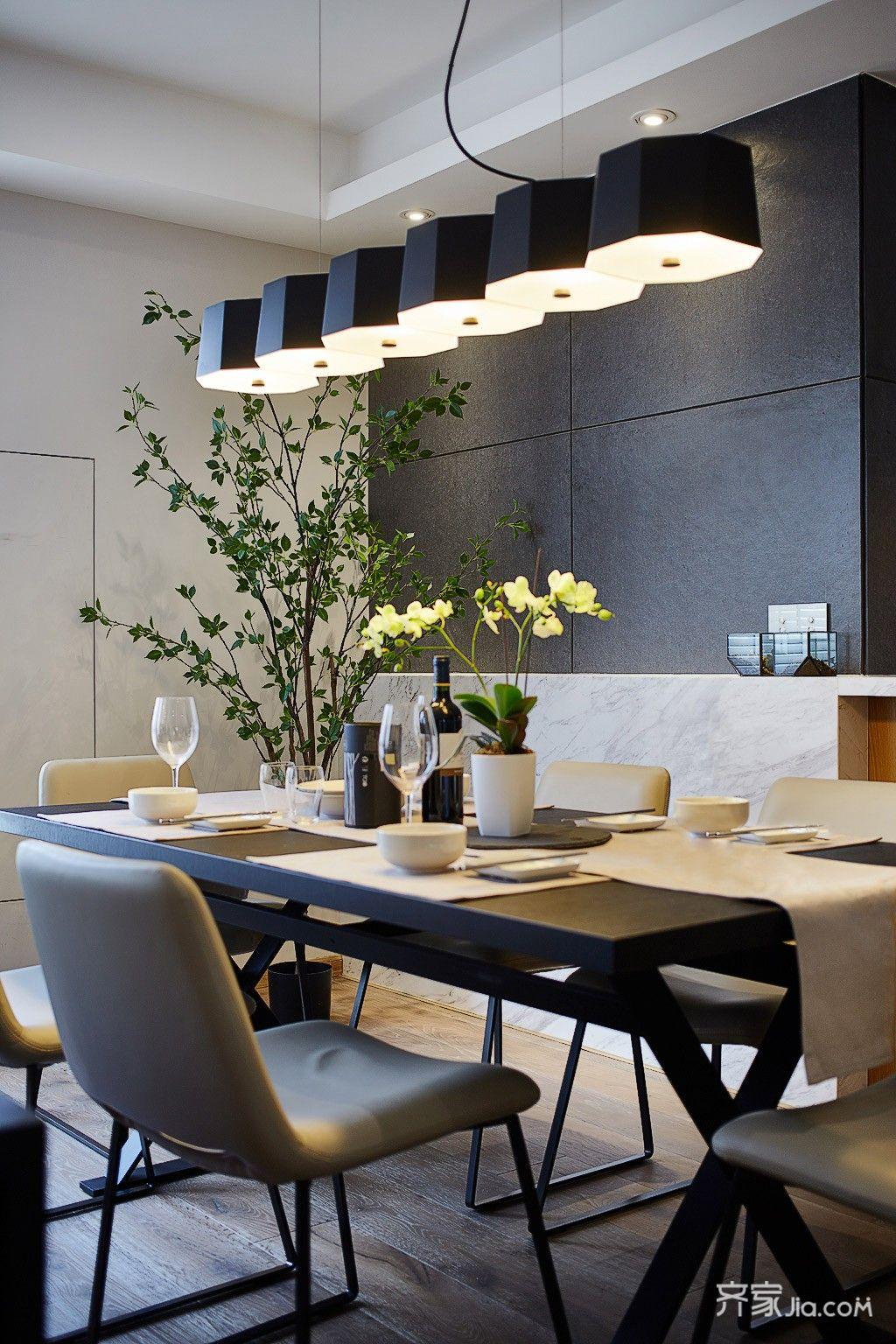 现代简约风格四居室餐厅装修效果图