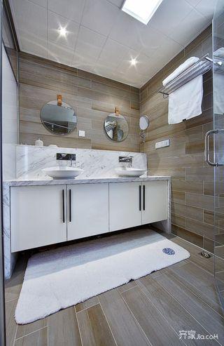 现代简约风格四居室装修浴室柜设计图
