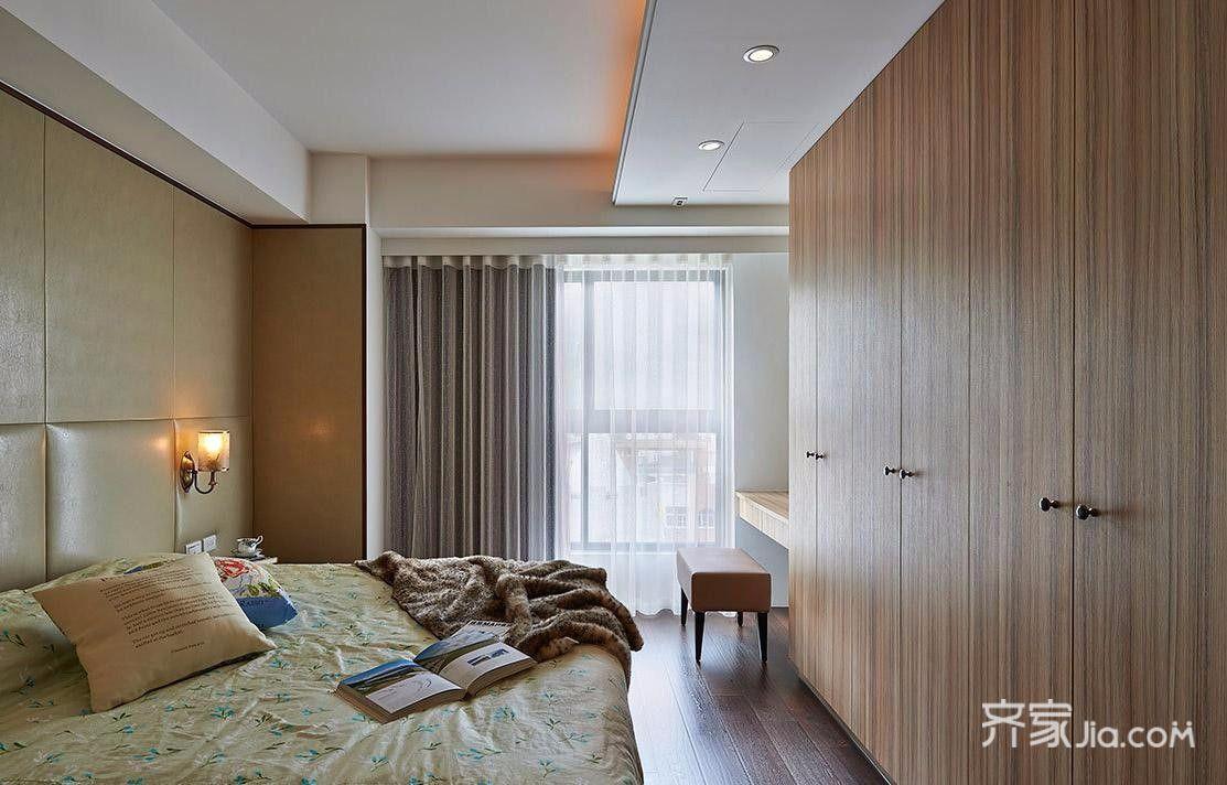 80平米简约风二居卧室装修设计图