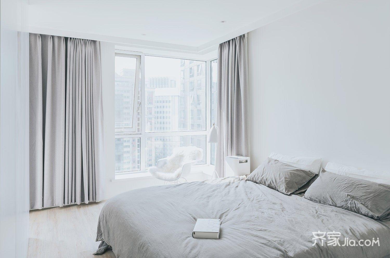 极简风格二居卧室装修效果图