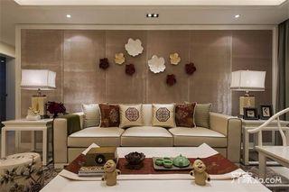 现代中式风格两居装修效果图