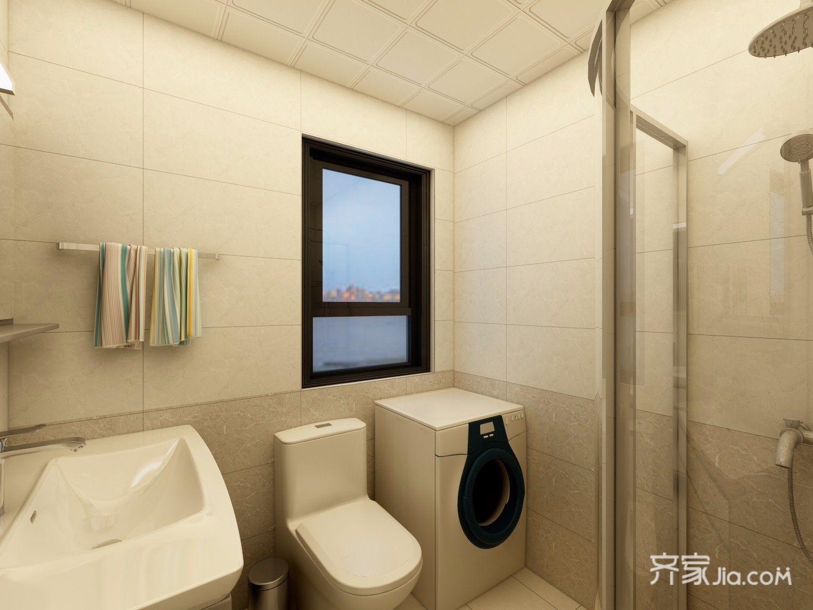 90㎡简约三居室卫生间装修效果图