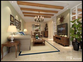 84平美式风格二居装修效果图