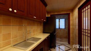 135平中式风格三居厨房装修效果图