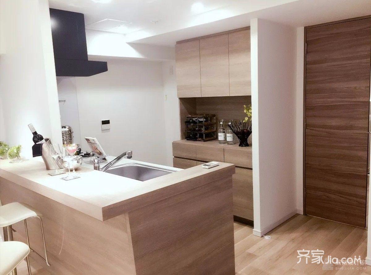 大户型新中式四居厨房装修设计图
