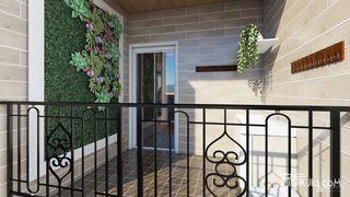 115㎡美式风格三居阳台装修效果图