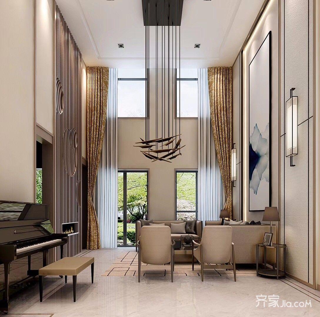 大户型混搭风格别墅客厅装修效果图