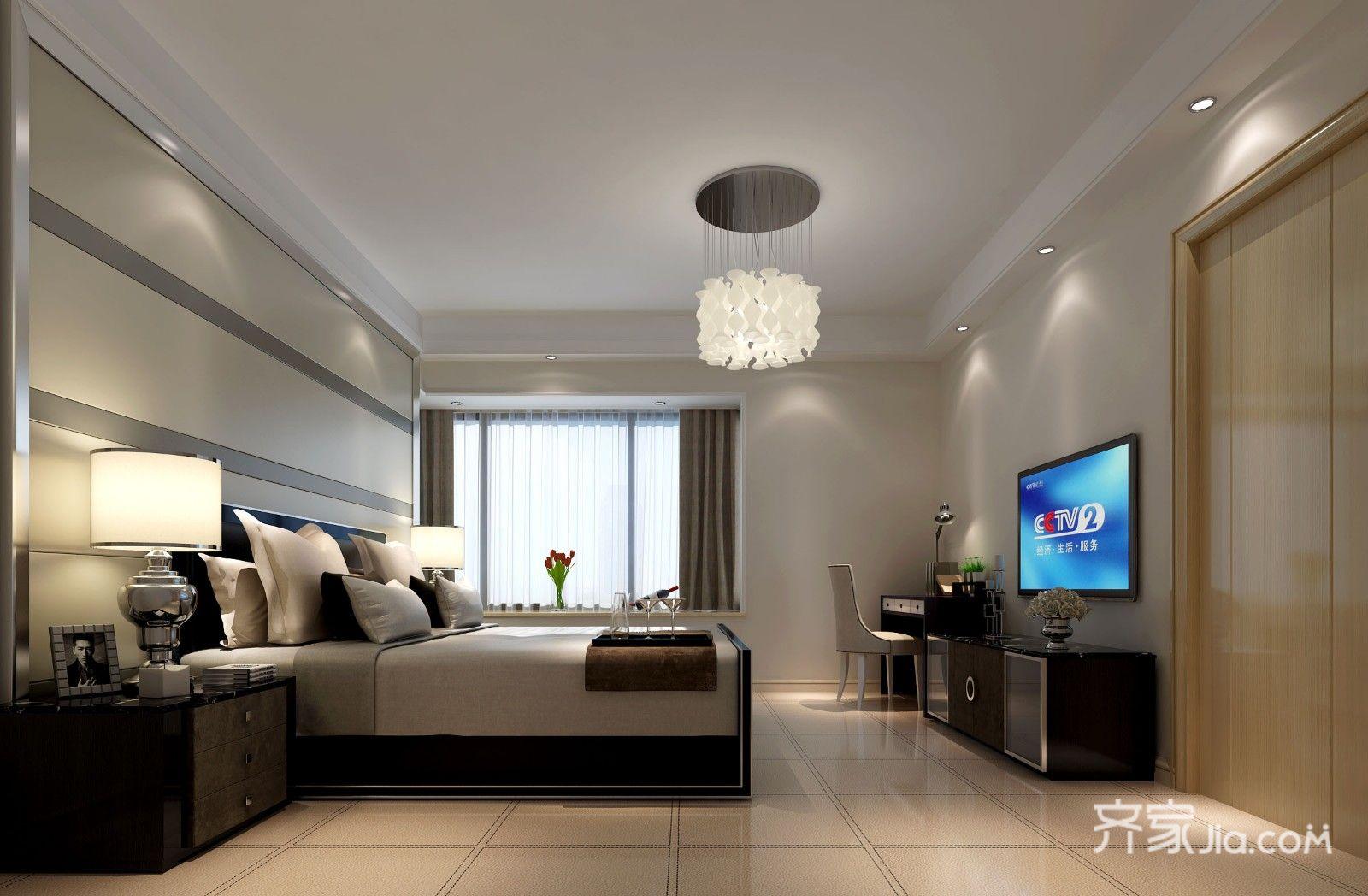 140平米现代风格卧室装修效果图
