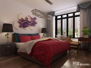 90㎡现代风格二居卧室装修效果图