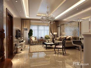 现代欧式风格三居室装修效果图