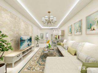 88㎡简欧风格两居客厅装修效果图
