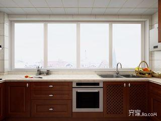 128平中式风格三居装修橱柜设计图