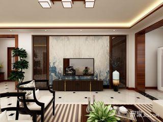 128平中式风格三居装修效果图