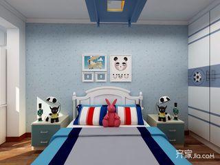 128平中式风格三居儿童房装修效果图