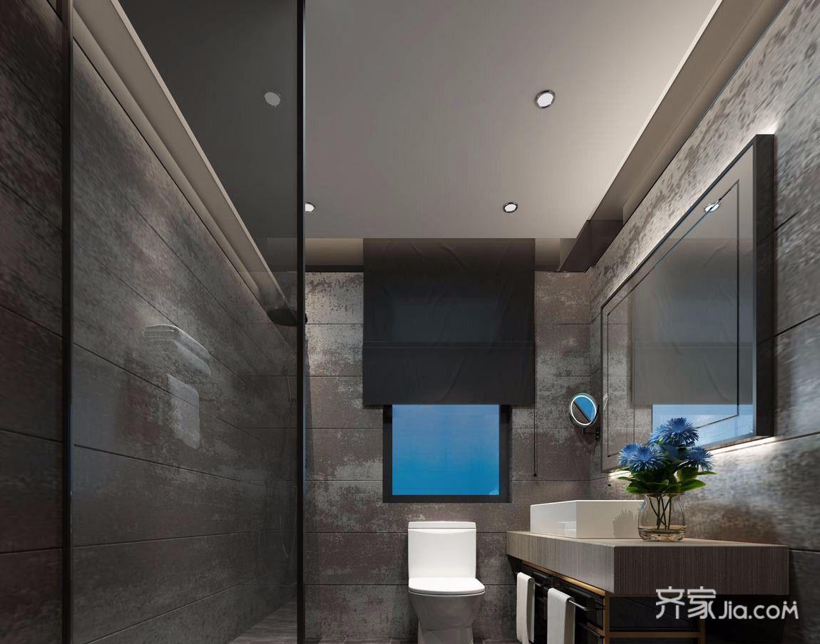 现代简约风格大户型卫生间装修效果图