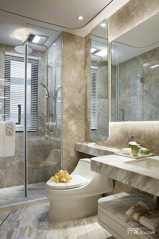 浪漫法式风格三居卫生间装修效果图