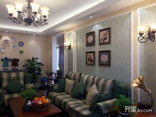 美式風格二居室裝修設計效果圖