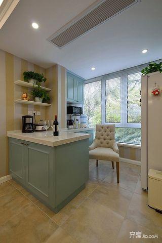 150㎡美式三居厨房装修设计效果图