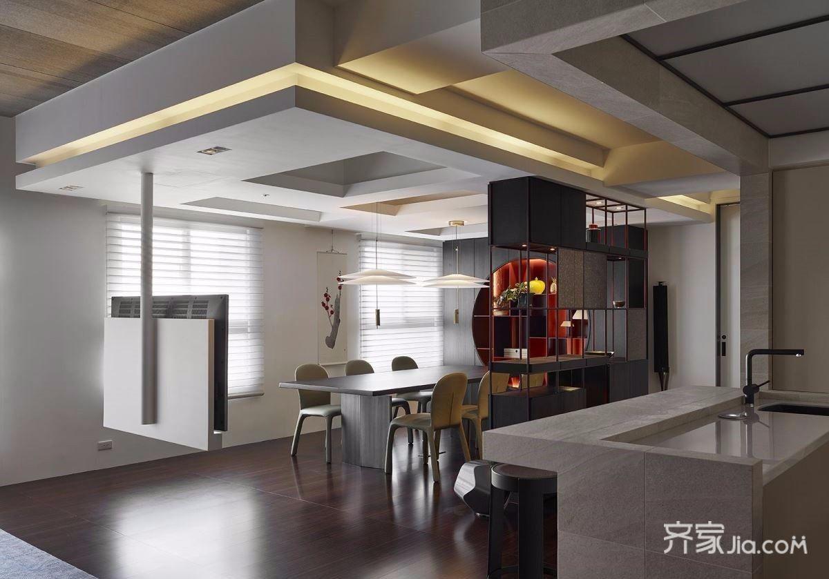 122平现代简约风格餐厅装修效果图