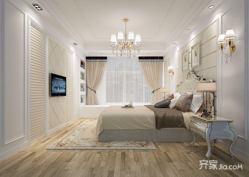 简欧风格复式别墅卧室装修效果图