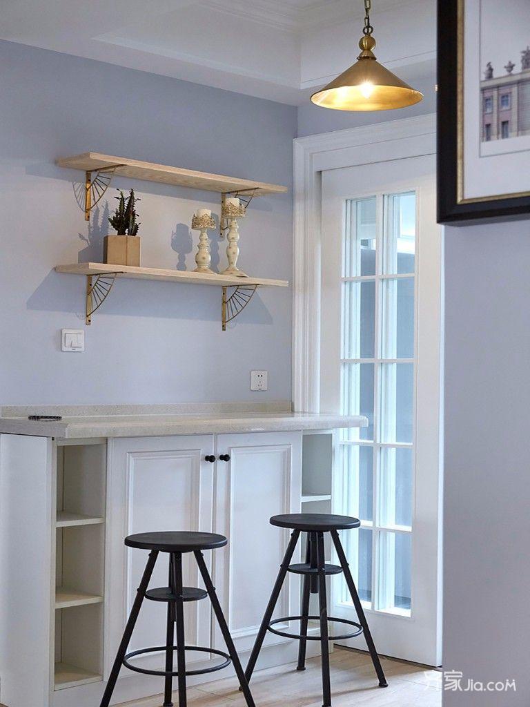 140平美式三居装修吧台设计效果图