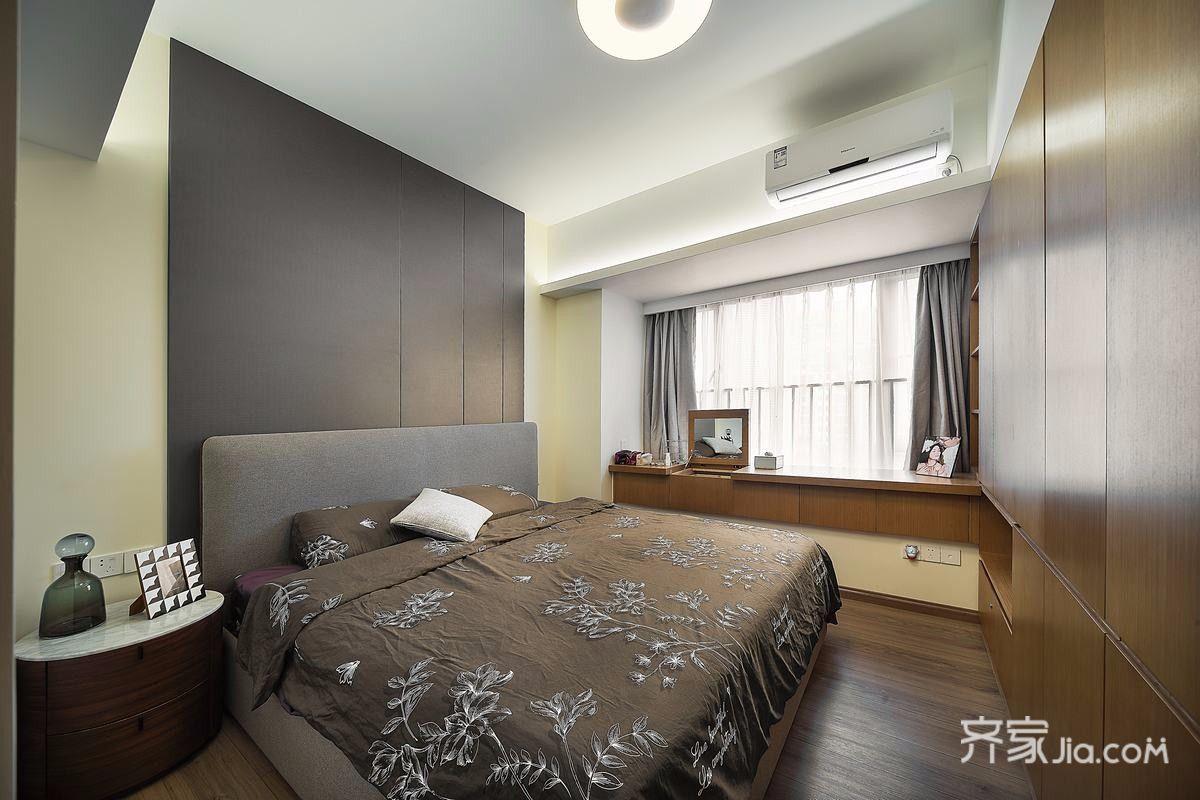 现代简约风三居卧室装修效果图