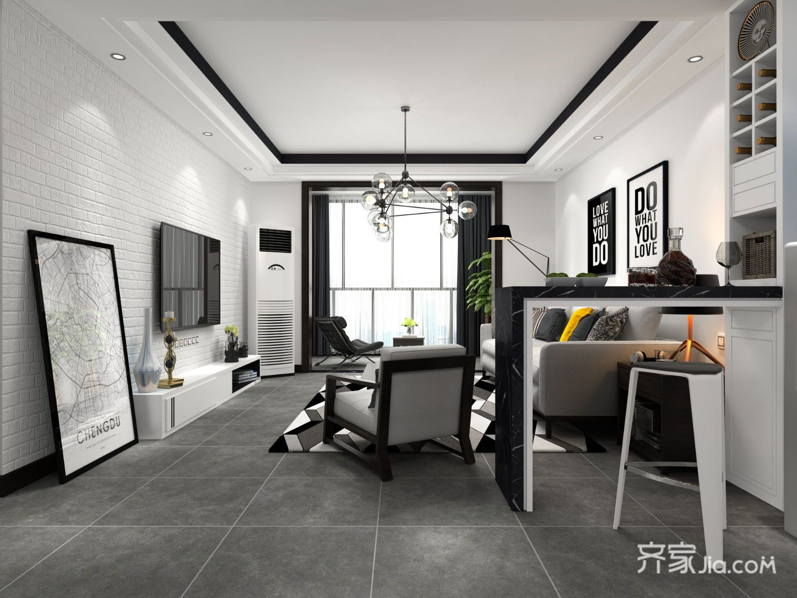 宜家风格二居室客厅装修效果图