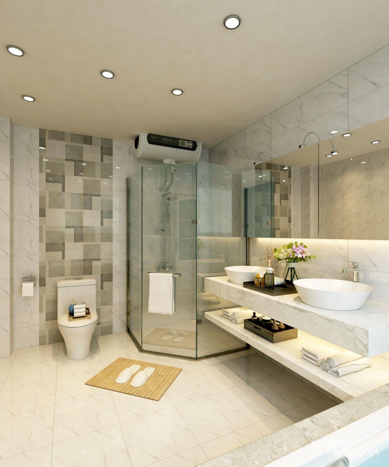 宜家风格二居室卫生间装修效果图