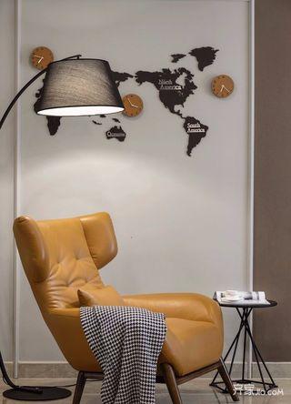 130㎡现代简约三居装修沙发躺椅设计图
