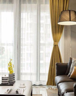 130㎡现代简约三居装修窗帘设计图