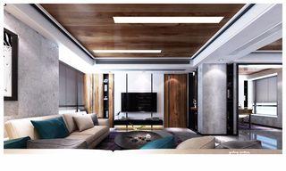 现代混搭风格三居室装修效果图